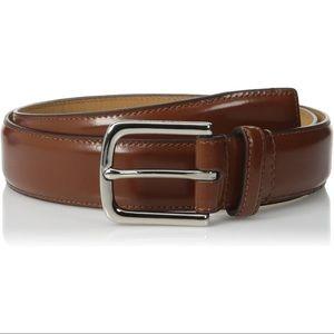 Cole Haan Full Grain Vegan Leather Belt Cognac 34